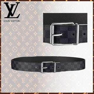 e916032a282a Louis Vuitton Men Belt DAMIER PRINT 40MM REVERSIBLE (M9156S)