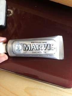 意大利 Marvins 牙膏 銀色清新亮白 25ml