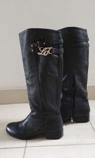 Liu Jo Italian Leather Black Boots