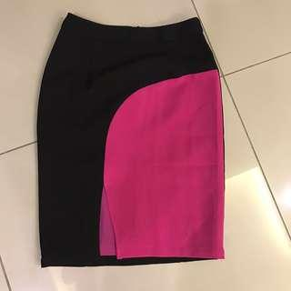 Maxtino pink & black Pencil Skirt
