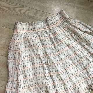 Zara tiny humans cute midi skirt in white 春夏白色人仔半截裙短裙中長裙