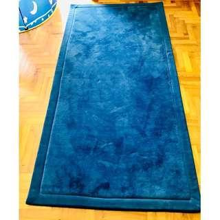 Carpet - coral blue