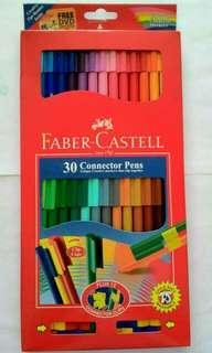 Connector pen Faber castell 30 warna original