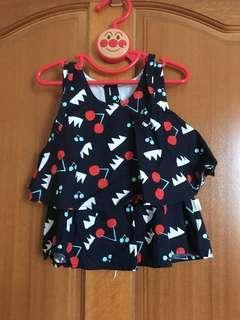 🚚 👧🏻可愛櫻桃🍒無袖上衣