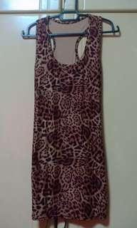 Tight Fitting Mini Dress Animal Print