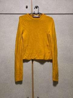 UNIQLO KNITTED MUSTARD LONG SLEEVE TOP