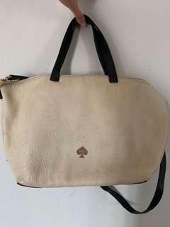 Kate Spade Cream and Black Bag (Ukuran Handbag Besar)