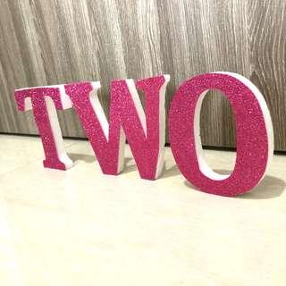 [For Rent] Two Pink Glitter Wording