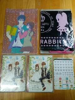 5件 少女漫畫雜誌附錄 Sho-comi 蜂蜜初戀 淚光小兔