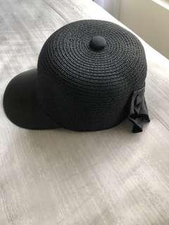 🚚 黑色蝴蝶結鴨舌帽