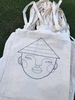 Hand-drawn tote bags!