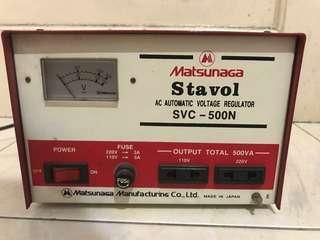 Stavol Stabilizer Matsunaga 500watt 500w 500 Watt Stavol SVC-500N