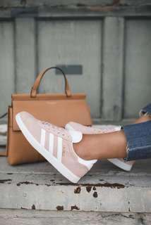 Adidas gazelle vapour pink dusty vapor pink suede shoes sneaker trainers 淺粉紅色波鞋運動鞋球鞋
