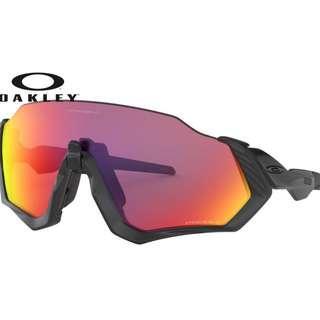 Authentic Oakley Flight Jacket Sunglasses Black (Prizm road Lens)