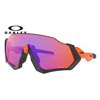 Authentic Oakley Flight Jacket Sunglasses Orange (Prizm trail Lens)