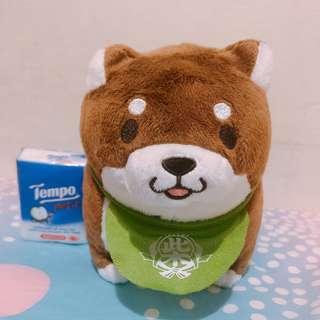 柴犬 豆柴 狗狗 可愛 中型 公仔 (綠色圍巾)
