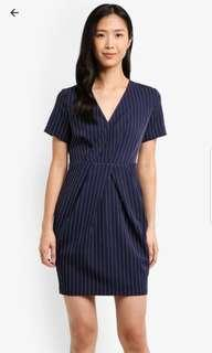 Zalora Wrapped Pleated Dress