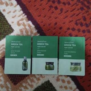 Innisfree green tea series sample