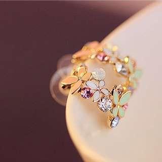 🚚 Swarovski elements crystal butterfly earring