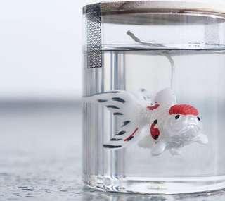 Eye candle studio 3d goldfish in clear candle 超像真立體感與透明蠟燭