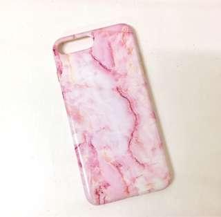 iPhone 8plus Pink & White Marble Case