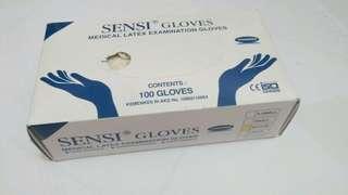 SENSI Medical Latex Examination Gloves Size Medium (Sarung tangan latex)