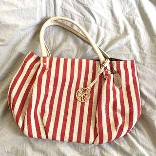 購至韓國女裝 春夏季手袋 (紅白色)