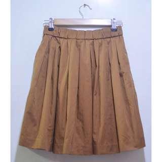 LOWRY'S FARM Pleat Flare Skater Skirt