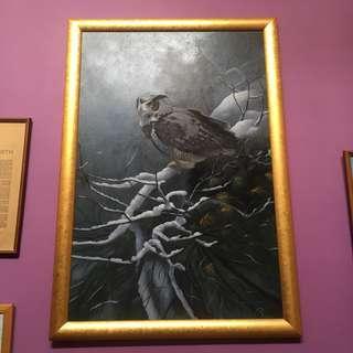 Oil Painting from Medan Indonesia framed