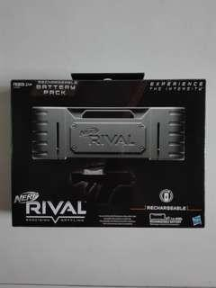 BNIB Nerf Rival Rechargeable Battery Pack 7.2V Ni-Mh with USA flat pin plug fr100V - 240V Wall Charger for Khaos MXVI-4000 and Nemesis MXVII-10K hasbro TRU 100FPS 30 MPS