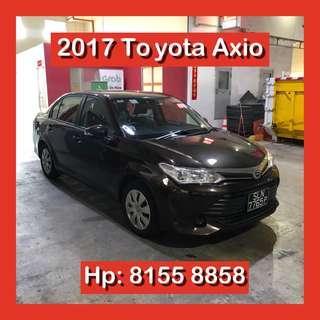 2017 Toyota Axio Grab Go Jek Car Rental