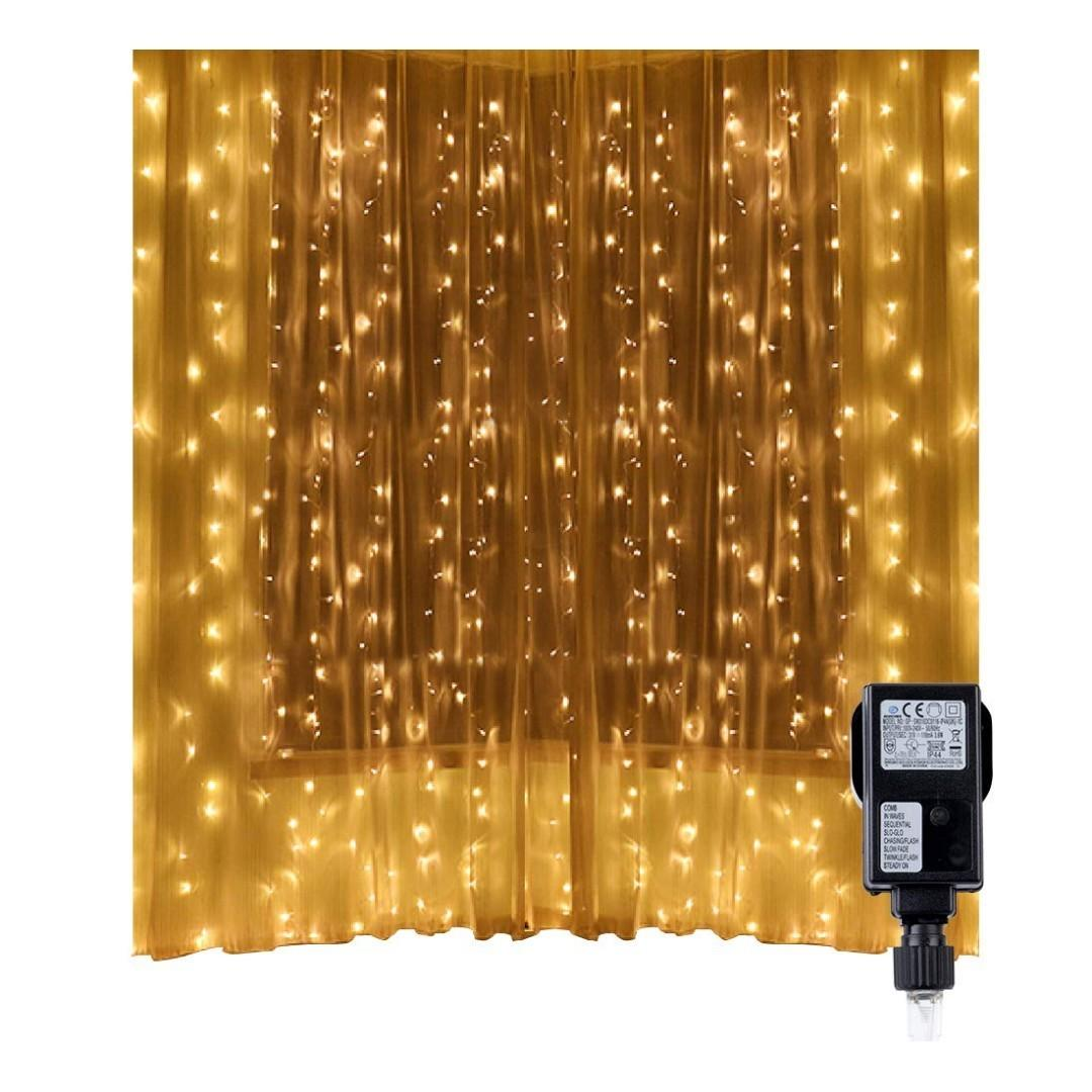 1877 Led String Lights Curtain Lights Speclux 300 Leds 8 Modes Indoor Outdoor Window Curtains String Lights Warm White Christmas Curtain Lights For Wedding Valentine S Day Party Bedroom Garden Electronics Others On Carousell