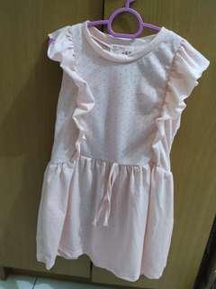 Peach Coloured Dress for Girls