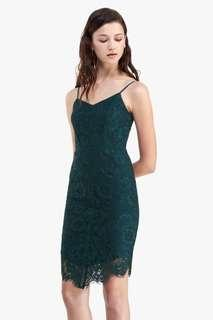 🚚 Fayth Gianna Lace Fitted Dress  in Teal - Size XS