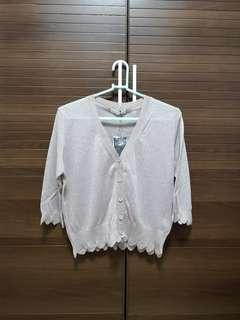 Beige blouse 薄中袖襯衣