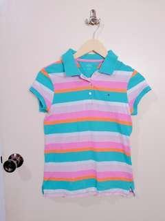 ❤Multi colored Stripe Collar top