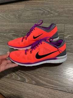 NIKE Free 5.0 Bright Orange Runners size 9