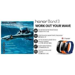 華為榮耀3智能手環(1年保養) / Huawei Honor Band 3 Smart Wristband(1 year warranty)