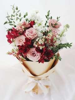 Valentine's Day Roses Bouquet - LOVE