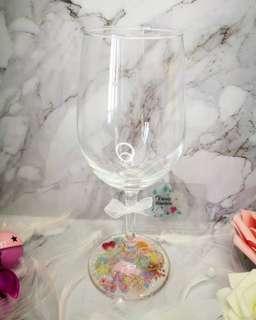 押花玻璃酒杯