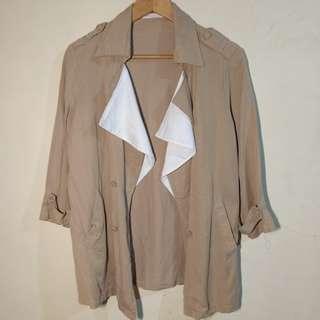 Beige Soft Fabric Coat