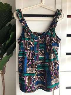 (S/M) F21 Tribal Top