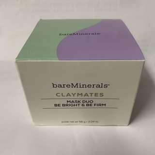 BareMinerals ClayMates mask duo be bright & be firm 面膜 深層清潔