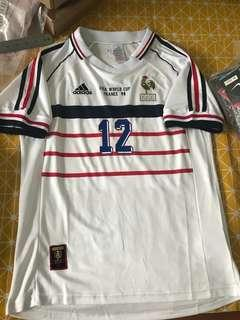 🚚 France Jersey Away 1998 World Cup