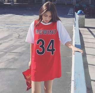 🚚 籃球服寬鬆短袖顯瘦 女 (全新)