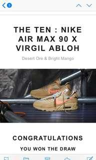 Nike x off white airmax 90