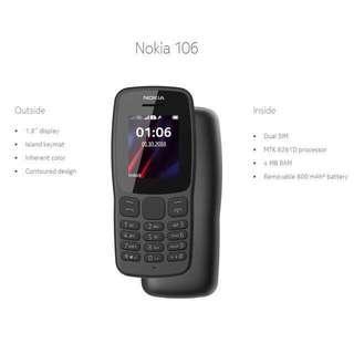 Nokia 106 Dual SIM Dark Grey (2018) Original/Sealed