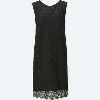 🚚 Uniqlo Black sleeveless lace dress BRAND NEW