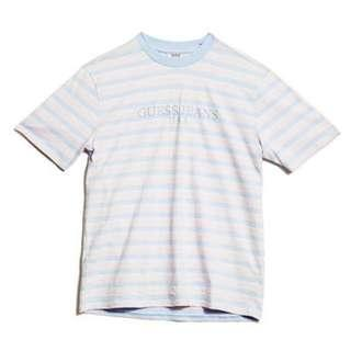 Guess Jeans USA x ASAP Rocky Ice Cream Cotton Candy Shirt Pink/Blue Small Stripe 男M