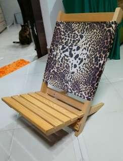 Outdoor low reclining chair